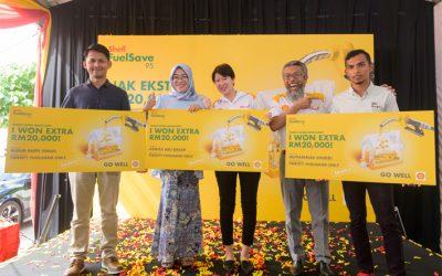 "Shell Malaysia推出 ""Nak Ekstra RM20,000"" 有奖活动,目前已有4位民众成为RM20千 的大奖得主。"