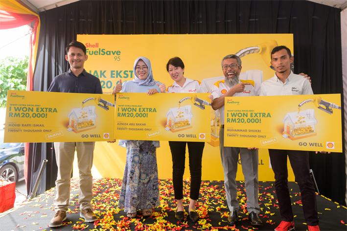 "Shell Malaysia推出 ""Nak Ekstra RM20,000"" 有獎活動,目前已有4位民眾成為RM20千 的大獎得主。"