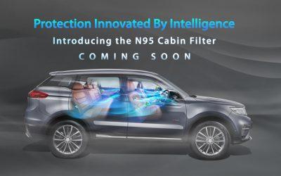 Proton 將為2020年式Proton X70標配N95 級別空氣濾網,有效攔截各種有害顆粒物